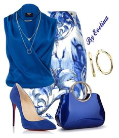 """EVE"" by evelina-er on Polyvore featuring Versace, Paule Ka and Christian Louboutin"