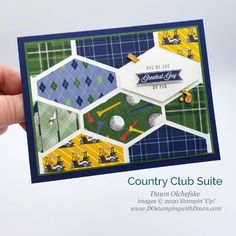 Your Creative Connection Country Club Suite Tailored Tag card from Dawn Olchefske tags creative Clubhouse-PH Vintage Birthday Cards, Masculine Birthday Cards, Birthday Cards For Men, Masculine Cards, Birthday Images, Birthday Quotes, Scrapbook Sketches, Card Sketches, Creative Connections