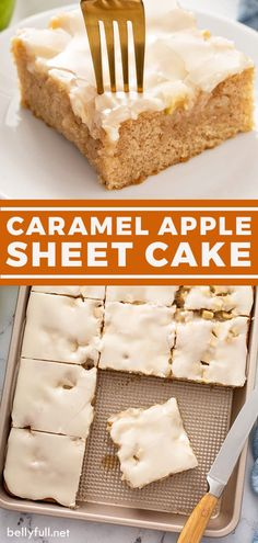Apple Sheet Cake Recipe, Sheet Cake Recipes, Cake Recipes From Scratch, Great Desserts, Delicious Desserts, Dessert Recipes, Yummy Food, Apple Recipes, Fall Recipes