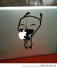 Invader Zim Laptop Decal