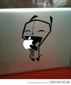 Invader Zim macbook decal