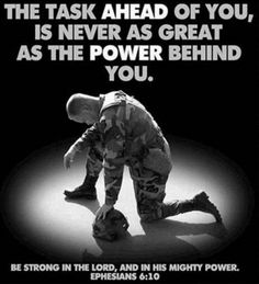 Prayer for our troops, yea remember that when you lose your limbs and this God is NOWHERE to be found and the VA wont help you!!!