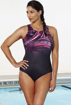 f3899493ea Chlorine Resistant Plum High Neck Swimsuit | Swimsuits For All Swimsuits  For All, Women Swimsuits