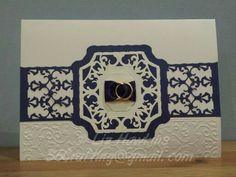 Wedding card made with Tonic Studios Idyllic dies - S6 Crafting