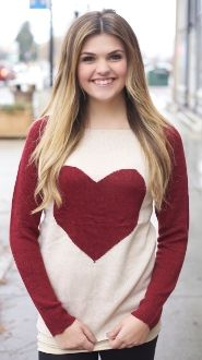 Red Long Sleeve Heart Sweater $26.99!! I LOVE with this sweater!!