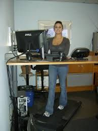 Custom Corner Desk with Tread Treadmill Desk, Walking Treadmill, Stand Up, Corner Desk, Shed, Health, Corner Table, Get Up, Health Care