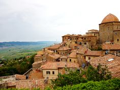 The roofs of Volterra, Tuscany. To learn more about the places to visit in Tuscany visit: http://www.pietrafittaimports.com/explore-tuscany