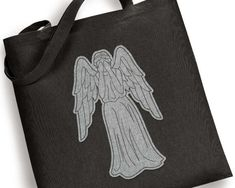 Weeping Angel Raggy Applique or Redwork Embroidery Design File
