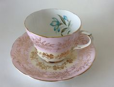 Bone China Tea Cup and Saucer Gladstone by dishinit on Etsy Treasure Hunting, Bone China Tea Cups, Gladstone, Vintage Tea, Cup And Saucer, Tea Time, Tea Party, Pots, Unique Jewelry