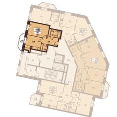 1 комната 40.1 м²