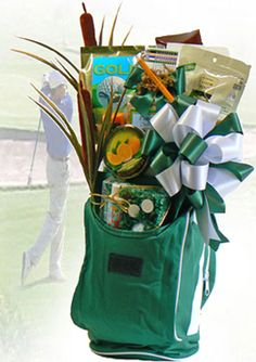 Golf Theme Gift Basket - Golfing Theme Gifts Baskets