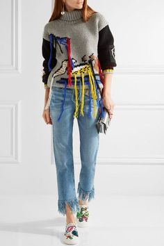 Marc Jacobs - Mercer Embellished Appliquéd Canvas Slip-on Sneakers - White - IT