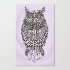 Alice the Wise Owl Stretched Canvas by Jamie Berry Sweet - $85.00