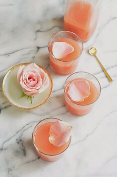 White Peach + Rose Lemonade Refreshing Signature Drink