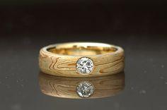Mokume Gane Diamond Engagement Rings | Mokumé Gane Men's Wedding Band
