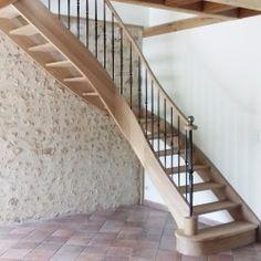 Escalier débillardé sans contremarche - Modèle Elysée