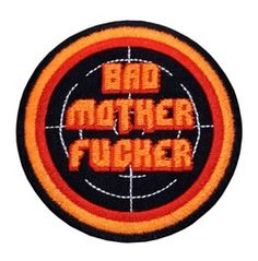 Patch Iron On Sew On Bad Motherfucker Rocker Biker Pulp Fiction Gangster