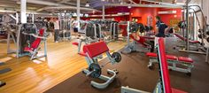 Virgin active gym in South Africa with Matrix fitness gym equipment.