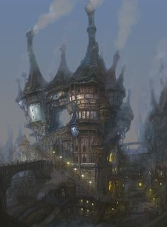 by jungmin. Great fantasy house with multiple towers