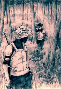Kakashi and Yamato ANBU