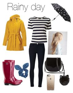 """Rainy day"" by imsailormars ❤ liked on Polyvore featuring Helly Hansen, Frame, NLST, UGG, Dorothy Perkins, Rebecca Minkoff, Kate Spade and Casetify"
