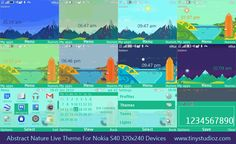 Abstract Nature Live Theme For Nokia C3-00,X2-01,Asha 200/201/205/302 and other 320×240 QWERTY Keypad Devices - TinyStudioz