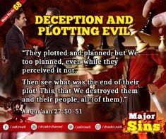 Major Sins in Islam Islamic Prayer, Know The Truth, Hadith, Oppression, Quran, Forgiveness, Prayers, Politics, How To Plan