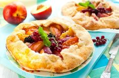 Our Peach and Huckleberry Tart will help you savor those last days of summer!