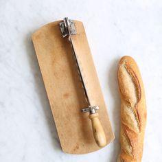 Vintage Baguette Slicer - 200 E https://thecooksatelier.com/the-french-larder/vintage/vintage-bread-slicer-