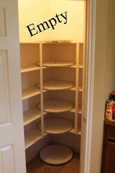 Lazy Susan Pantry Redesigned. Love this idea for spices and sauces