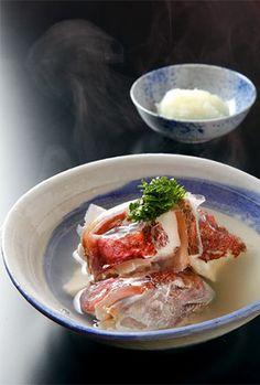 Sea bream steamed in sake