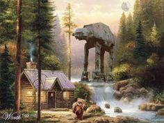 Kinkade/Star Wars mash-up by Matthew Couper Studio: Oct 1, 2009. Omgosh I love this! R.I.P. Thomas Kinkade
