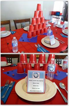 Invite and Delight: Minute to Win It Party. Great ideas for team building during professional development.