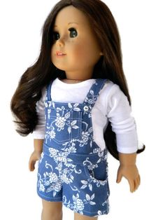 American Girl Doll Clothes - Short Overall Set