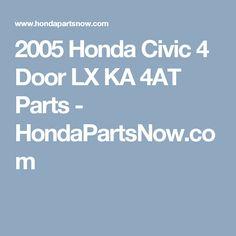 14 best honda civic auto repair videos images on pinterest honda 2005 honda civic 4 door lx ka 4at parts hondapartsnow fandeluxe Image collections
