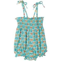 Surfer print bubble romper #californiagirl