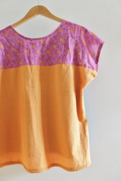 sewing: color-block your bess top