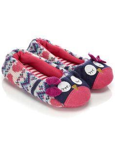 owl ballerina slipper