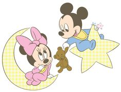 Baby Mickey & Minnie Moon