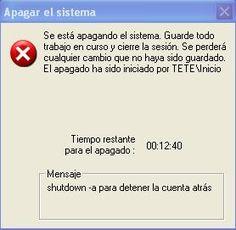 Apagar la pc automáticamente windows XP