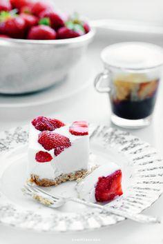 Coconut cheesecake >> So pretty!