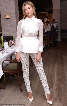 Stunning: Hailey Baldwin showed off her impressive figure at the W magazine It Girl luncheon in NYC during NYFW