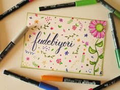 Desvelamos las aplicaciones de los rotuladores Fudebiyori de Kuretake