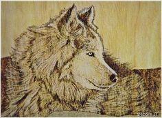 Lobo - Quadro by Debora J. Tozze Artes - Pirografia
