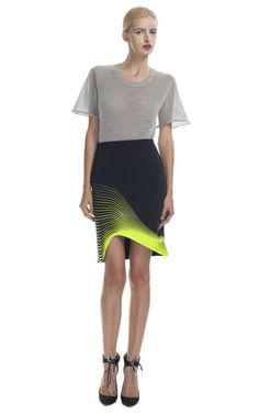 Dion Lee Lime Thermal Skirt