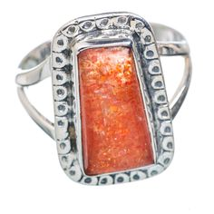 Sunstone 925 Sterling Silver Ring Size 7.5 RING720145