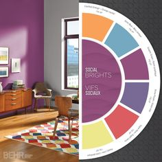 The key to using brights is to use them strategically. They work well when partnered with neutrals, dark hues or light hues #ColorTrends