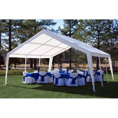 King Canopy 12 x 20 ft. Expandable Canopy - Is the summer's sun threatening to evaporate your outdoor fun? The King Canopy 12 x 20 ft. Expandable Canopy is here to help keep everyone cool. Diy Party Tent, Outdoor Tent Party, Outdoor Parties, Outdoor Events, Backyard Parties, Outdoor Pergola, Backyard Bbq, Party Tent Rentals, Backyard Shade