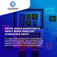 Social media marketing is about more than just scheduling posts. 🤘🧒👌 It's about engaging with customers, answering queries, and putting your brand out there for everyone to see. Get in touch with us to know more. Visit flatratesocialmedia.com