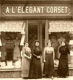Fashion was a big part in Victorian life. Depending on what you wore, it determined the class you came from. This picture shows women in front of a corset shop, which were very important in everyday wear.